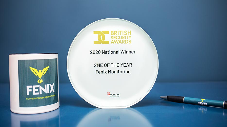 British Security Award Winner - Fenix Monitoring - SME of the year